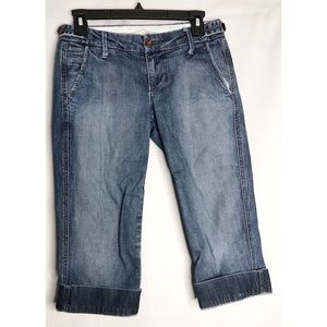 Joes jeans rolled capris pants 26 distressed